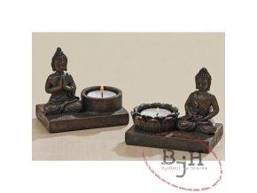 Budha se svíčkou - sada 2 svícnů