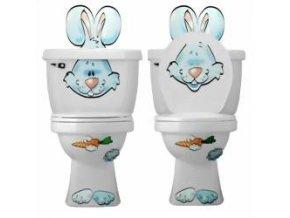 Dekorace na wc - zajíc