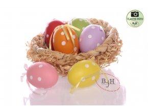 Velikonoční vajíčka s puntíkami